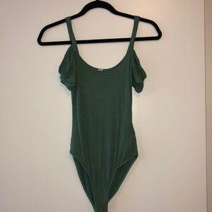 Cute green off the shoulder/tank bodysuit